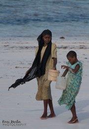Zanzibar woman and child
