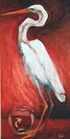 Blind Heron, oil, n/a