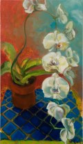 """The Gift(Orchid), oil, 18x32"""", $900"""