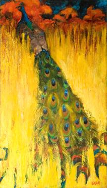 "Peacock, 18x32"""