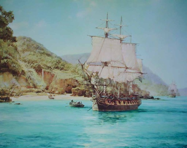 Montague Dawson Pirates Cove