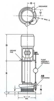 5210-Kerr-Industrial-Sump-Pump-TypeB-drawing