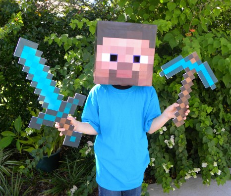 Minecraft Party Diamond Sword - Having a Minecraft party will make your child the envy of all their friends. You kind of have to throw the birthday party now that they are getting older.If you have to create a Minecraft world in your own home and have no idea what to do, check out these epic suggestions in this Minecraft Party roundup.