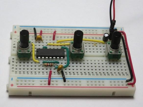 Atari Punk Console on Breadboard using Custom-cut Wires