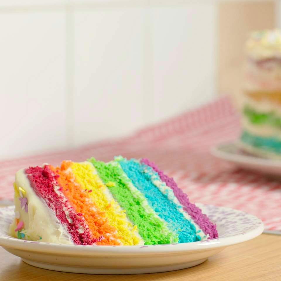 Easy 6 Layer Rainbow Cake