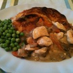 Chicken and Veg Pie with Puff Pastry