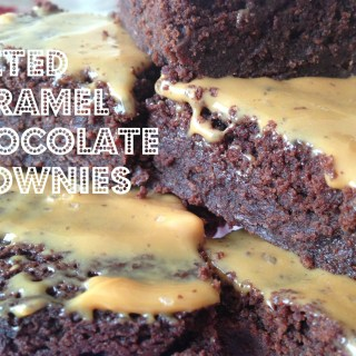 Simple Salted Caramel Chocolate Fudge Brownies