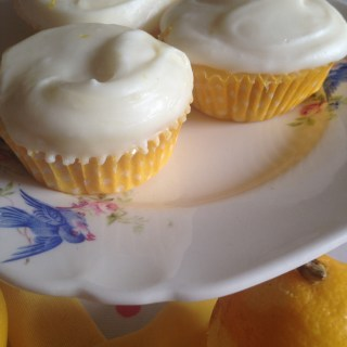 Lemon Chiffon Cupcakes with Cream Cheese Frosting
