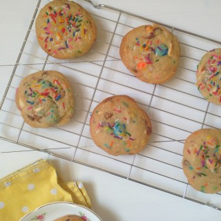 Rainbow Chocolate Chunk Cookies