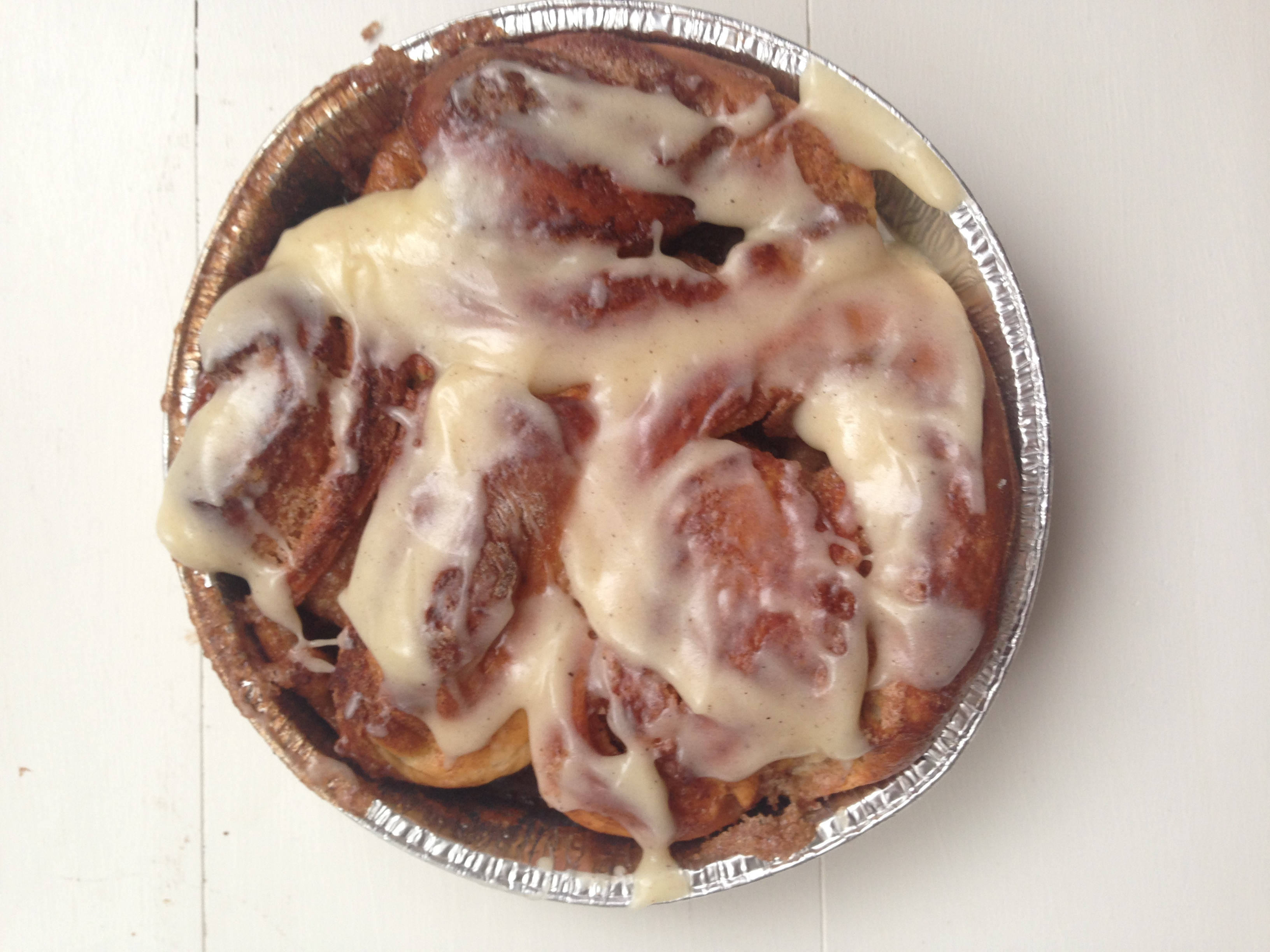 The BEST homemade cinnamon buns with cream cheese glaze - talk about brunch heaven!