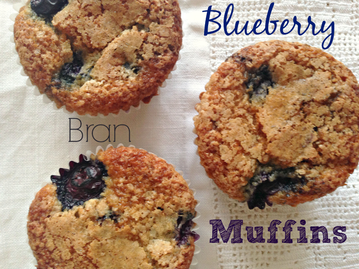 {Healthier} Blueberry Bran Muffins with Coconut Oil