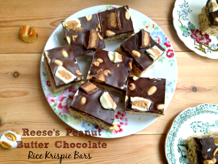 Reese's Peanut Butter Chocolate Rice Krispie Bars
