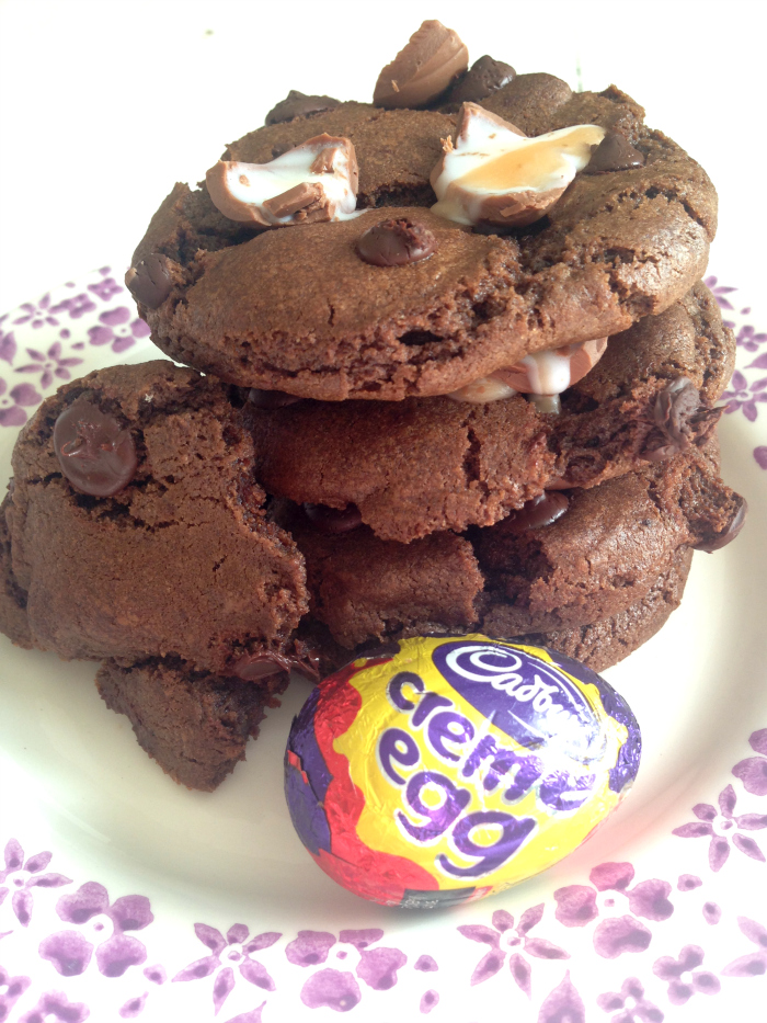 Creme Egg Chocolate Chip Cookies | Kerry Cooks