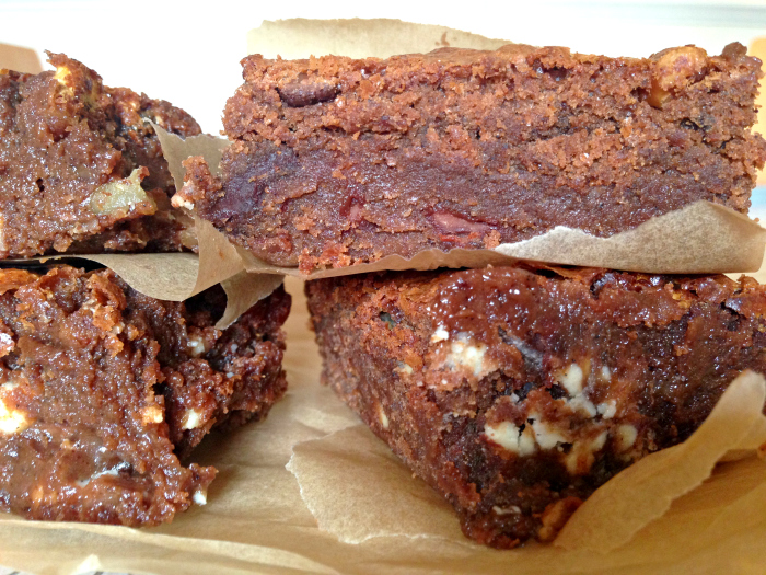 NEED to make these! They're packed full of choc chunks, peanut butter, marshmallows...Outrageously Gooey Chocolate Fudge Brownies at Kerry Cooks