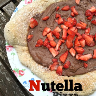 Strawberry Nutella Pizza