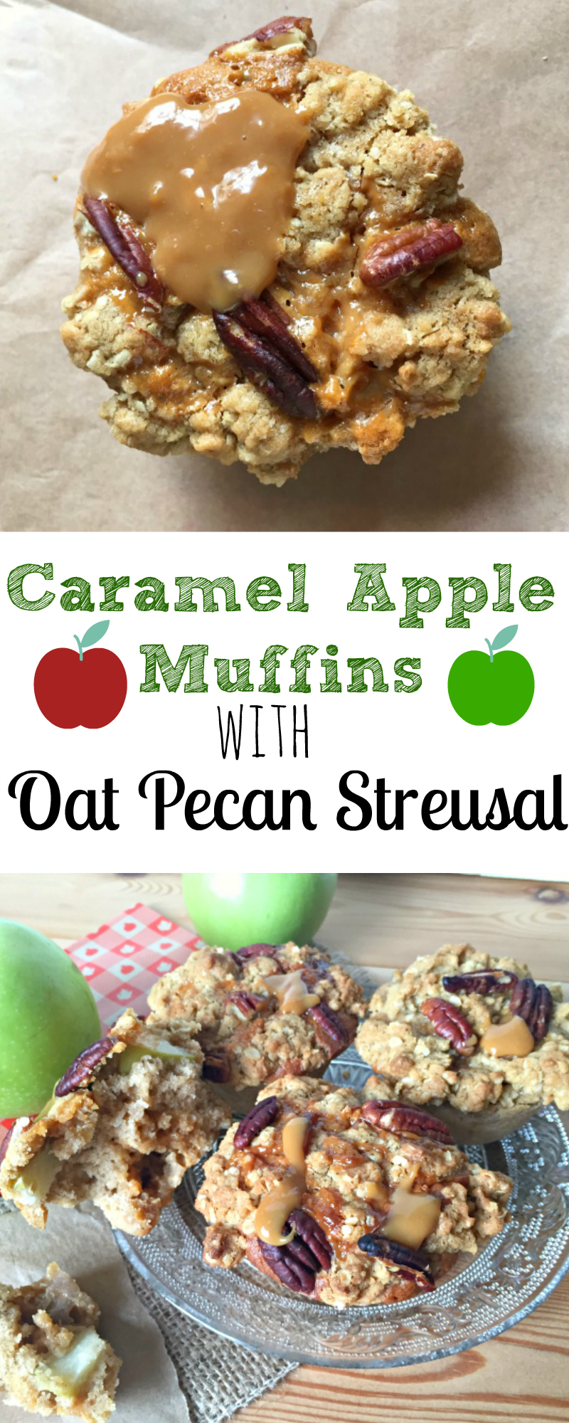 Caramel Apple Muffins with Oaty Streusal Topping