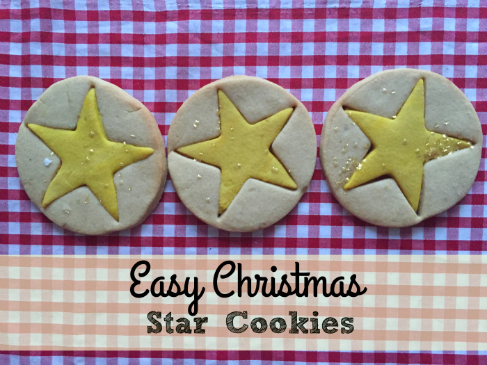 Easy Christmas Star Cookies - so quick and fun to make with kids!