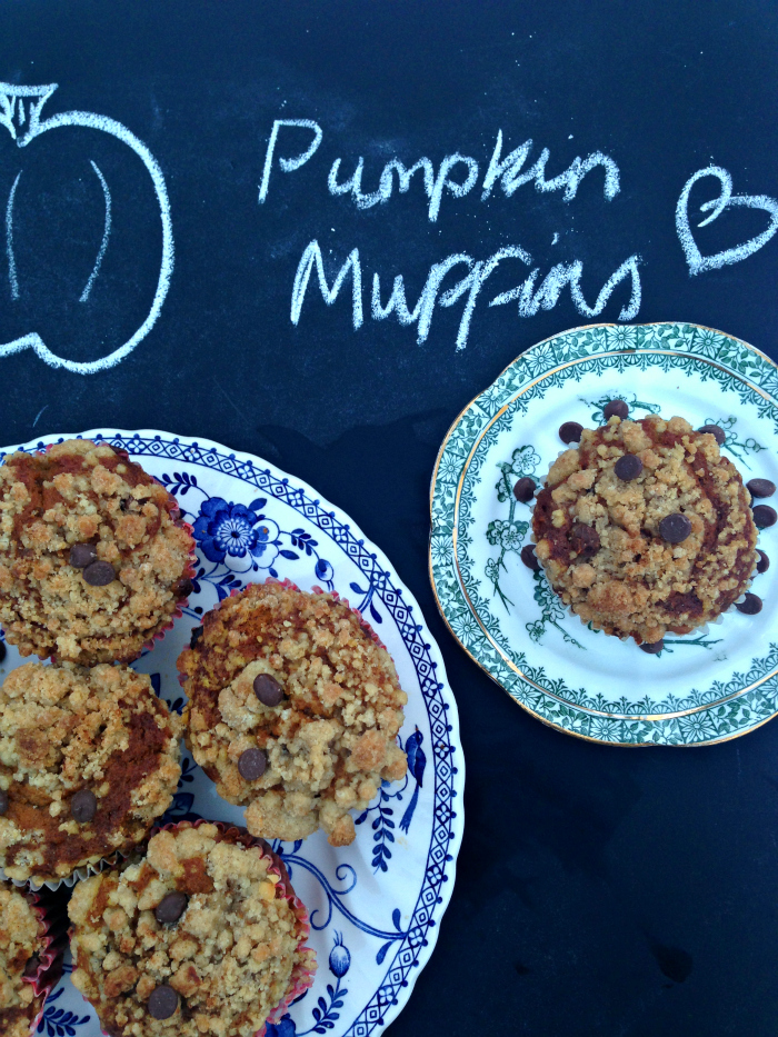 SO GOOD! These yummy moist pumpkin choc chip muffins keep for up to a week in an airtight tin | kerrycooks.com