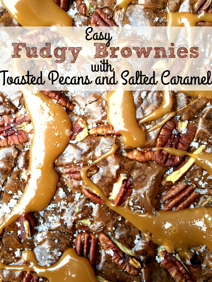 The fudgiest, most decadent and most delicious brownies ever! Easy Fudgy Brownies with Toasted Pecans and Caramel