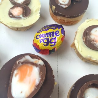 Mini Creme Egg Chocolate Caramel Shortbread