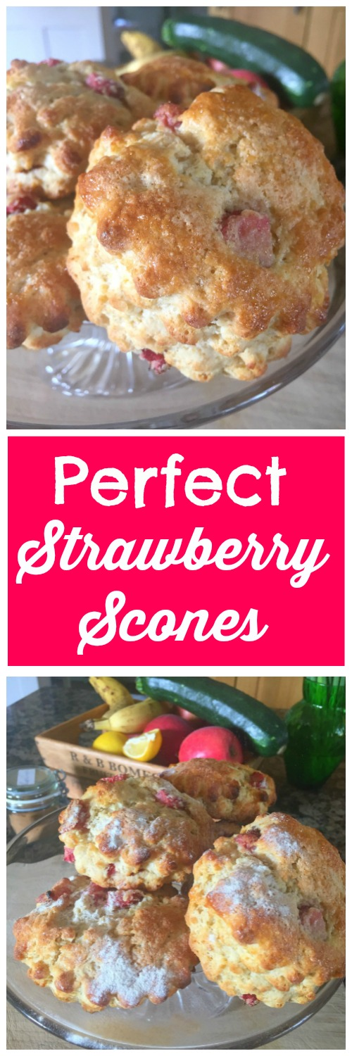Looking for a yummy, summery, light and gorgeous scone recipe? You're in the right place! With just 5 minutes of prep and all common ingredients too! Perfect Strawberry Scones