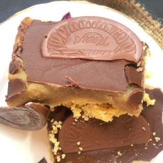 No Bake Terry's Chocolate Orange Millionaire's Shortbread
