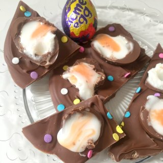 Creme Egg Chocolate Bark