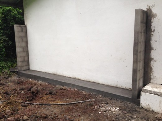 Concrete Base and Wall