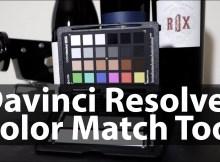 Davinci Resolve Color Match Tool for Color Grading 2