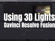 3D Lights with Davinci Resolve Fusion 5