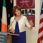 oan Burton TD, Minister for Social Protection, addressing the Irish Business Organization in New York