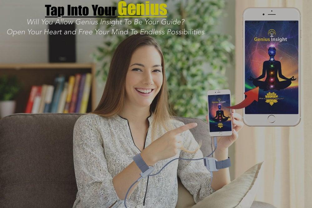 Genius app woman holding phone 1000