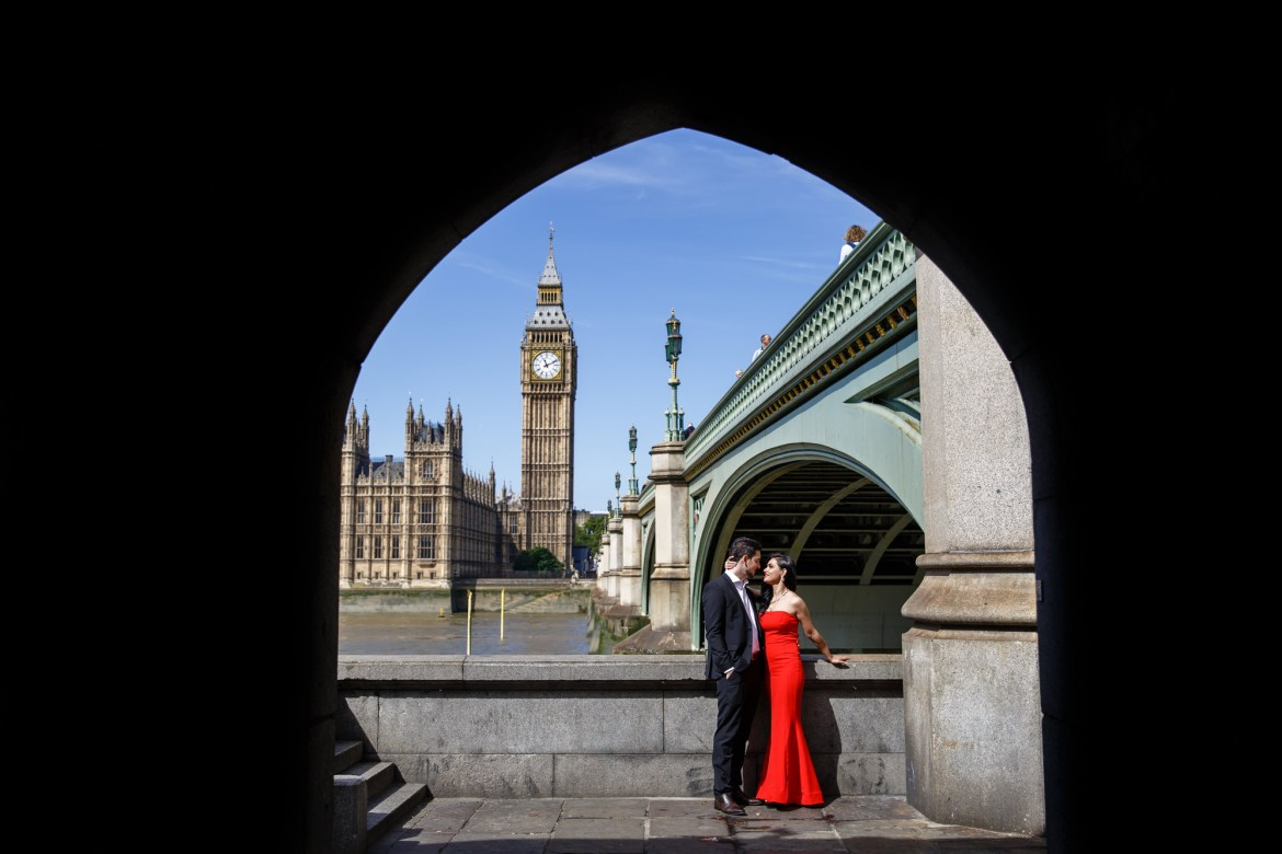 engagement photos with big ben in background London