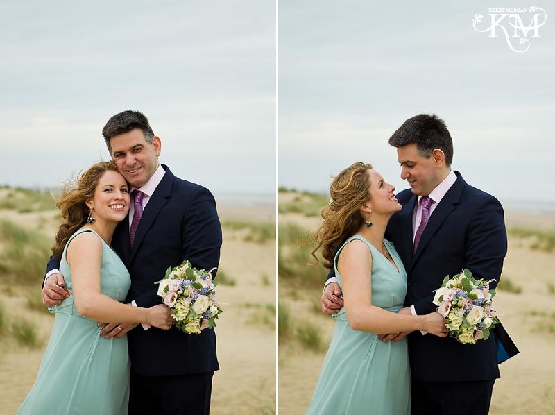 beach photos at camber sands wedding