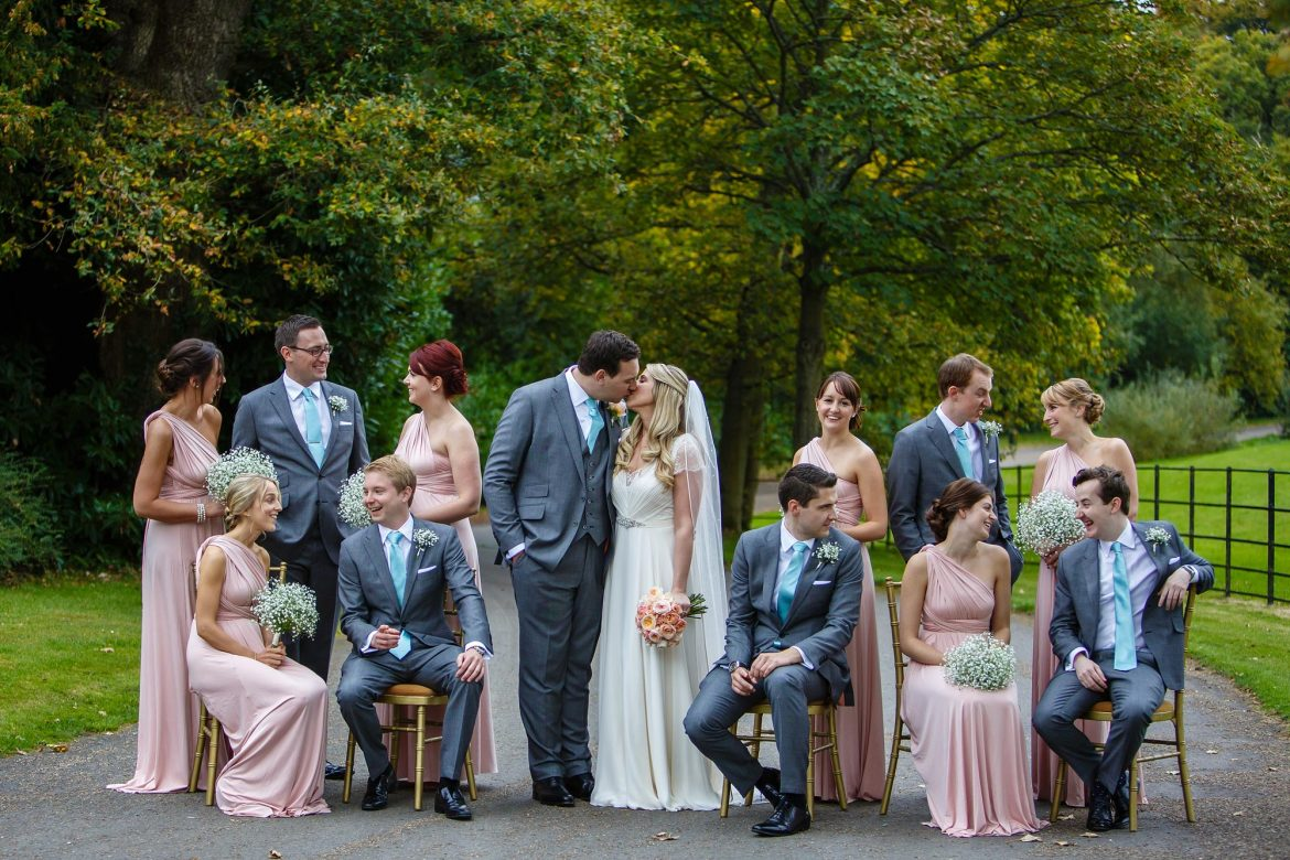 groups at Botleys Mansion autumn wedding