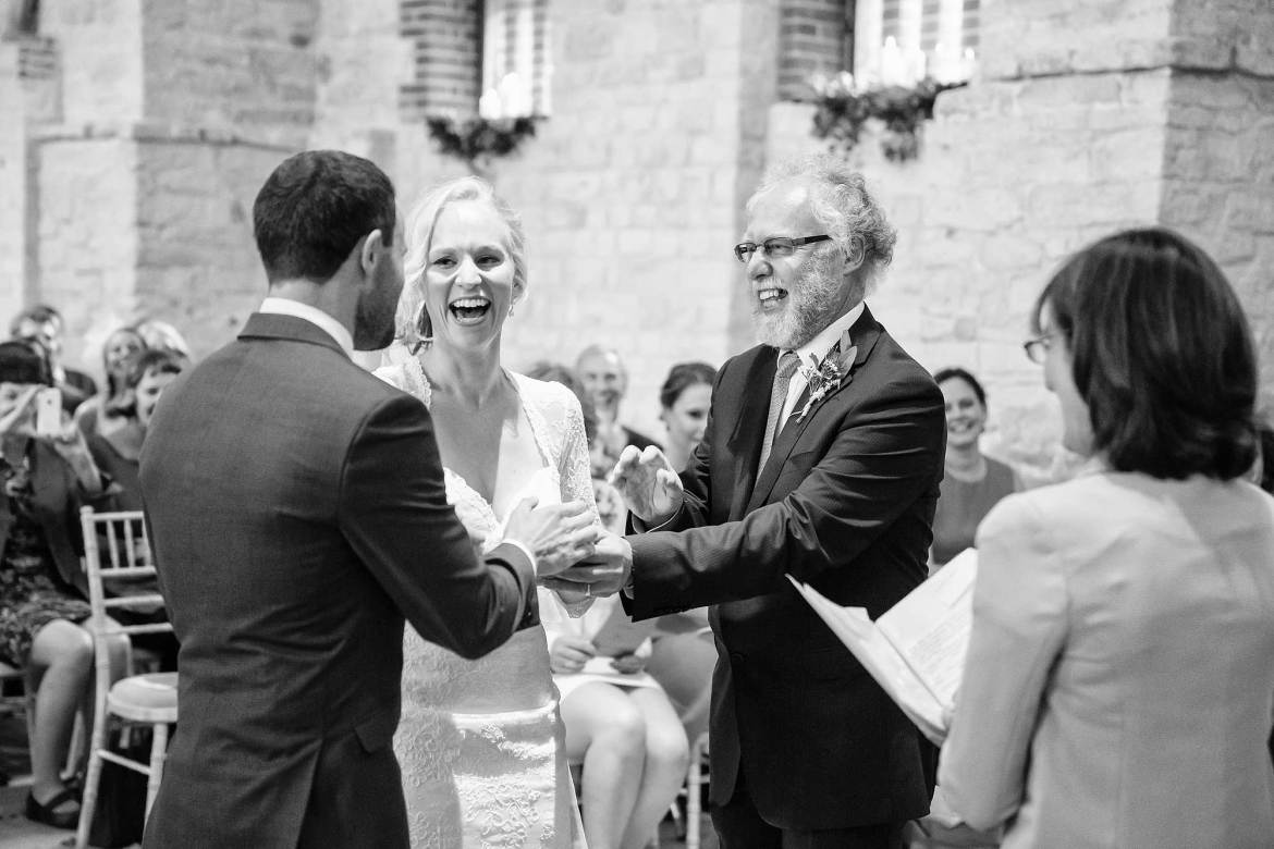Ceremony at Tithe Barn Petersfield