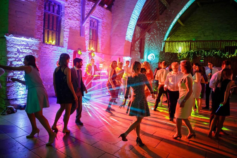 wedding dancing tithe barn