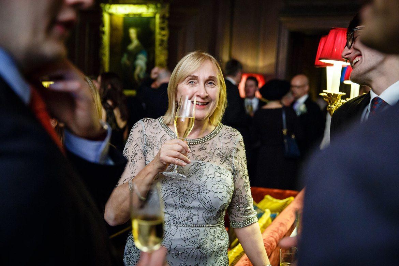 drinks winter wedding Cliveden House
