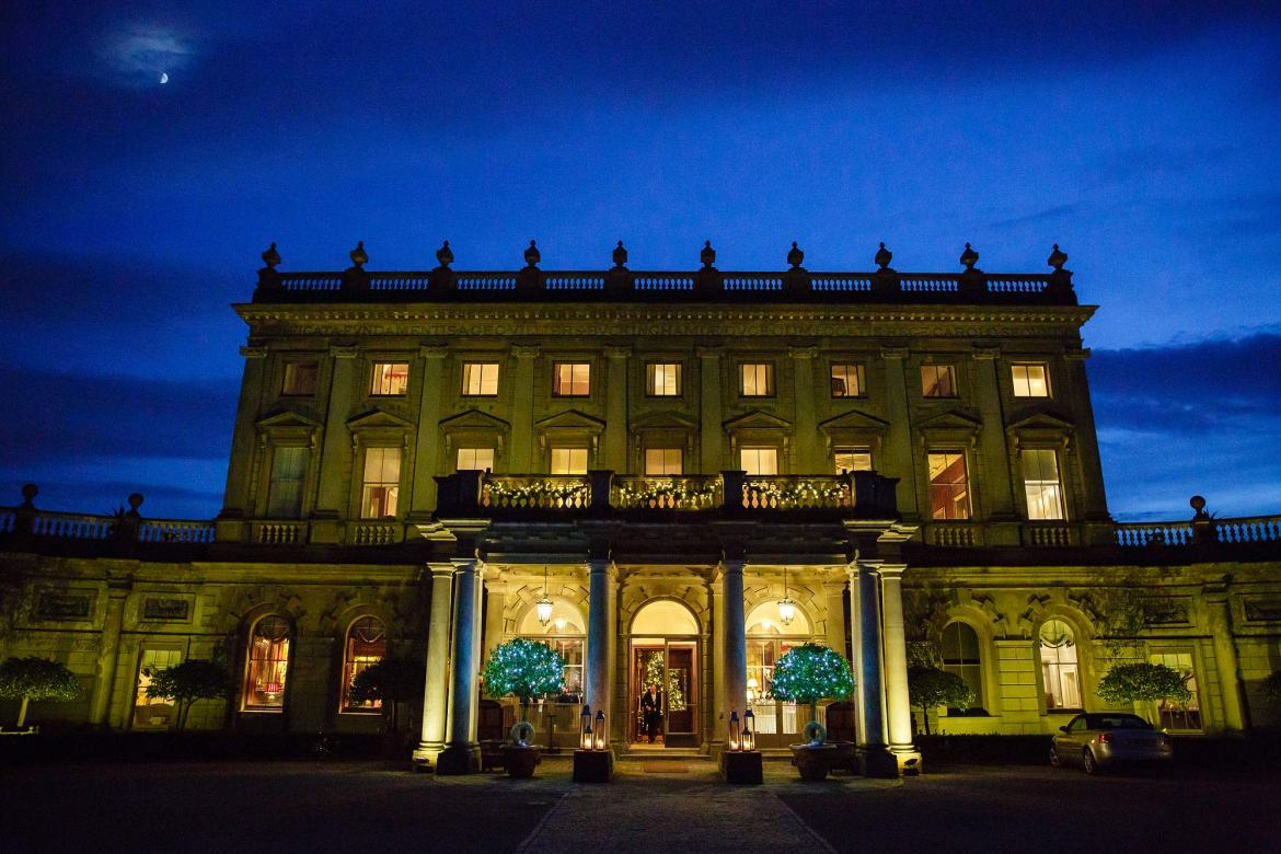 Cliveden House at night