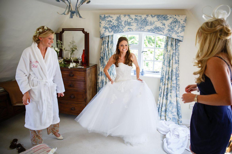 Bride getting ready at Kent Wedding