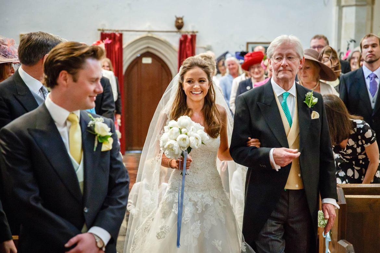 kent bride walks down the aisle