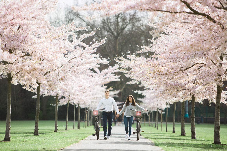 battersea park engagement photos