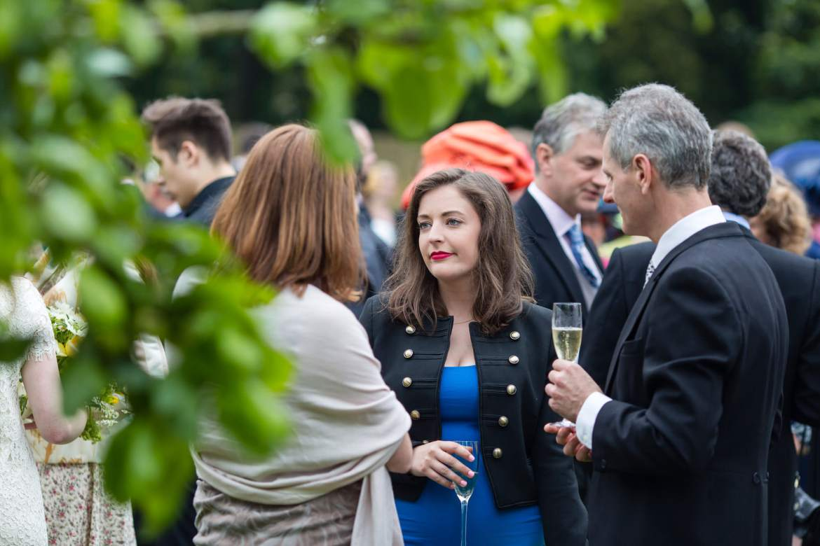 the drinks reception at Fulham Palace Wedding