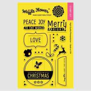 Waffle Flower Crafts Stamp Merry