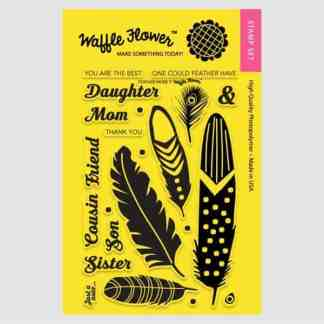 Waffle Flower Stamps Feather More