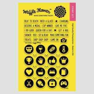 Waffle Flower Crafts Recharge Stamp Set