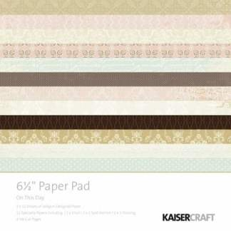 Kaisercraft 6.5 Paper Pad and Collectables On This Day