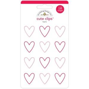 Doodlebug Design Cute Clips Here Comes Santa Claus Hearts