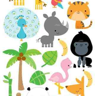 Doodlebug Design 6x12 Icon Stickers At the Zoo