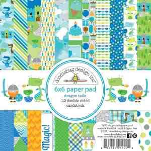Doodlebug Design 6x6 Paper Pad Dragon Tails